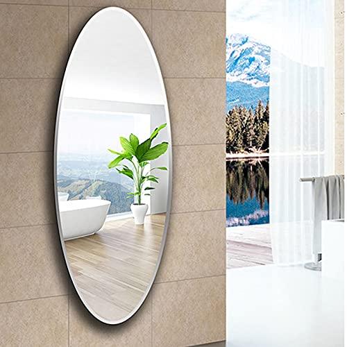 Full-length mirror Espejo De Pared De Cuerpo Completo, Espejo Sin Marco, Espejo De Pared, Espejo De Pared De Alta Definición, Adecuado para Baño, Sala De Estar Y Pasillo (Size : 500 * 700mm)