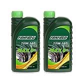 FANFARO 2 x 1L MAX-6+ 75W-140 GL-5 Limited Slip/Getriebeöl Differenzialöl Achsöl