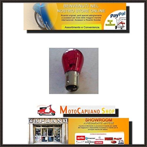 Lamp 12-21-5 rood STOP 1 draad voor Vespa en scooter