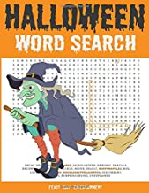 Halloween Word Search: Large Print Fall Holiday Puzzle Book For Kids And Adults