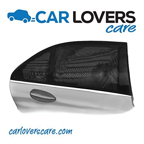 Car Lovers Care Window Shade UV Protection for Your Baby and Auto Interior. Universal Rear Window Sun Shades Fit Most Cars and SUV. Easy to Install Sunshades, Roll Down Your Windows.