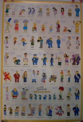 The Simpsons Poster Character Quotes