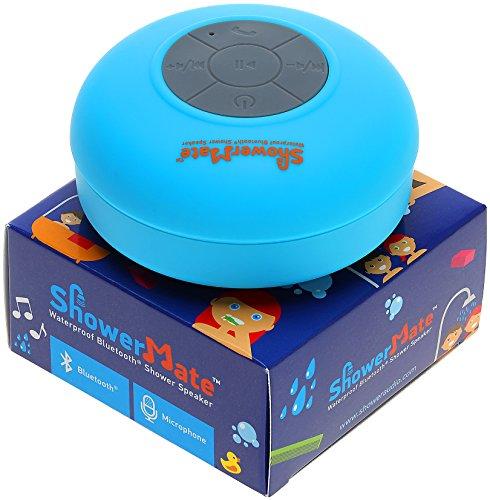 Shower-Mate Wireless Bluetooth Lautsprecher, Wasserdichtes Duschradio mit Freisprecheinrichtung und Eingebautem Mikrofon, Kompatibel mit Allen Bluetooth Geräten (Blau)