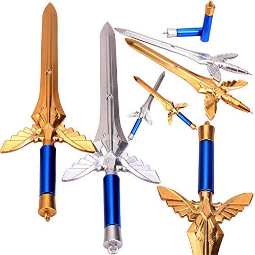 Sword of angel wings ballpoint pen GeI Ink Pen Kids Papelería Regalos para la escuela Oficina Escritura Suministros (10)