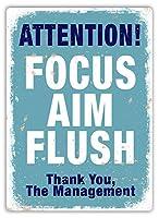 Focus Aim Flush BLUE メタルポスター壁画ショップ看板ショップ看板表示板金属板ブリキ看板情報防水装飾レストラン日本食料品店カフェ旅行用品誕生日新年クリスマスパーティーギフト