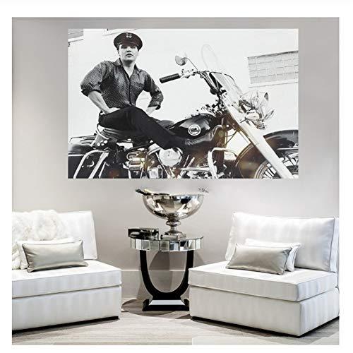 nr Elvis Presley Decoración para el hogar póster Tela Personalizada de Tela Lona Tela de Seda Impresión sobre lienzo-40x80cm Sin Marco