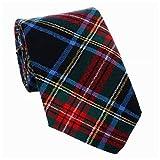 Ingles Stewart Schwarz Moderne Schottenkaro Krawatten 100% Wolle