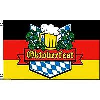 国旗 オクトーバーフェスト ドイツ ビール 酒 バー 居酒屋 パブ のぼり旗 特大フラッグ【ノーブランド品】