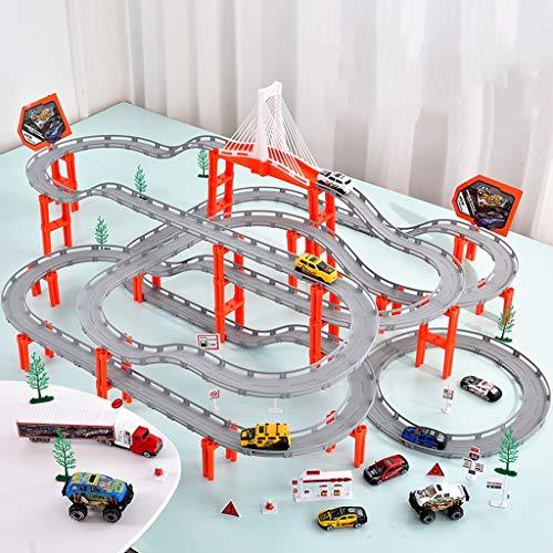 LINGLING-Pista Carril for niños Carriles for Autos Juguete Carril eléctrico Carreras for...