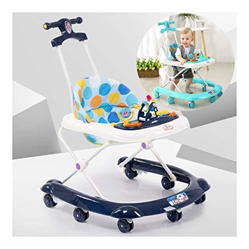 CJW-LC Höhenverstellbare Baby Lauflernhilfe, Faltbarer Multifunktions Lauflernhilfen Gehhilfe Anti-Rollover...