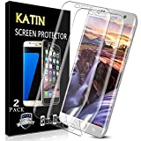 KATIN Galaxy S6 Edge Screen Protector - 3D TPU Screen Protector For Samsung Galaxy S6 Edge [Full Max Coverage] Case Friendly, Easy to Install, No-Bubble, 2-Pack