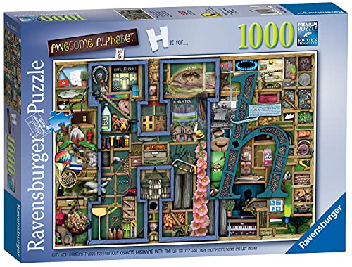 Ravensburger Colin Thompson - Awesome Alphabet  H  1000 Piece Jigsaw Puzzles for Adults & Kids Age 12 Years Up