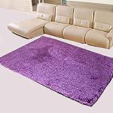 Alfombra de salón HR para mesa de café, dormitorio, alfombra de noche llena de seda, alfombra creativa, poliéster, morado, 160 x 230 cm