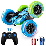Remote Control Stunt Car Rechargeable RC Car, 360°Rotating Double Sided Flips 4WD Remote Control Car Electric Race Stunt Toy Car 2.4Ghz Off-Road Racing Vehicles for Kids Boys Girls Birthday