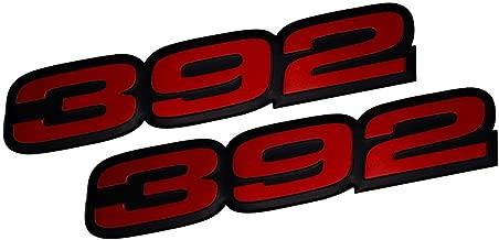 OEM Black Grille SRT HELLCAT Emblem Badge F SRT8 Challenger Charger Red Sanucaraofo