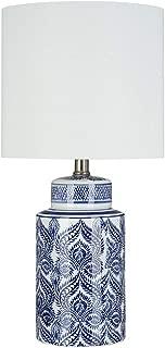 Ravenna Home Global Ceramic Table Lamp with LED Light Bulb, 20
