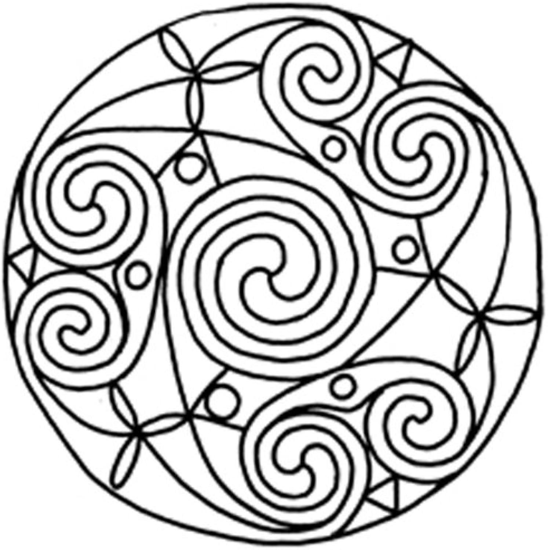 Lebensfreudeladen Mandala Leinwandmalvorlage 069 100 x 100 cm B00G2AMB6I   Angenehmes Gefühl