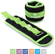 Fragraim Ankle Weights for Women, Men and Kids - Strength Training Wrist/Leg/Arm Weight Set with Adjustable Strap for Jogging, Gymnastics, Aerobics, Physical Therapy (Green - 2 lbs Pair)