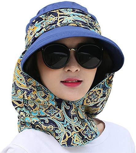 Roll Up Wide Brim Sonnenblende UPF 50+ UV-Schutz Sonnenhut mit Nackenschutz
