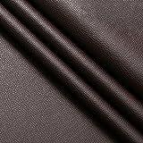 FRJKF Tela de Polipiel Vinilo Impermeable Paño de Cuero para Sofás Asientos de Cuero Bolsos de Cuero Chaquetas Bolsos Carteras Maletas Vende por Metros 138 x 100cm(Color:19# Dark Brown)