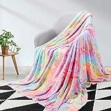 Elegear Mantas de Cama de Franela 130x150 cm - Manta de Sofás Vistoso 100% Microfibre Extra Suave - Manta de Color para Infantil Hogar Viajar