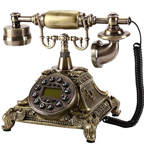 VERDELZ TeléFono Fijo De LíNea Fija Llave Europea TeléFono Antiguo TeléFono De Casa con Cable Fijo