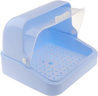 F Fityle Baby Bottle Drying Racks with Anti-dust Cover - Nursing Bottle Storage Box - Dinnerware Organizer - Blue