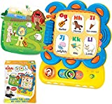 KiddoLab Chapa The Lion Alphabet Book, ABC Learning for Toddlers, Tablet Interactive Touch and Learn Activity Sound Book. Alphabet, Word Learning & Educational Toys for 1,2,3,4 Years Old Boys & Girls