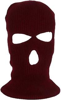 Stickad full ansiktsmask med 3 hål vinter varm stickad mask elastisk skidmask för utomhussporter snowboard motorcykel och ...