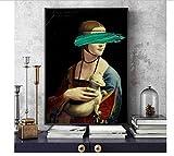 koushuiwa Poster Leinwand Gemälde Die Dame Mit Einem
