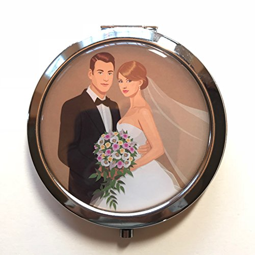 YRP New Boda Recuerdos. Wedding Celebration Gifts Silver Plate Mirror Memories Party Favor Set (12)