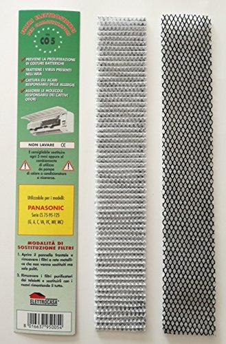 ELETTROCASA CO5 Confezione N 2 FILTRI CLIMATIZZATORI Aria PANASONIC Serie CS 75 95 125 G A C VA VC MV MC