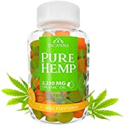 Tacanna Natural Hemp Gummies - Ultra Volume 2250Mg - 90pcs - Premium Hemp Extract - Relieve Stress, Pain and Anxiety - Omega 3 6 9 - Great Mood Boost - Immune Support