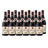 Côtes du Rhône Rouge 2016 - Maison Guigal - Vin AOC Rouge de la Vallée du Rhône - Cépages Grenache, Syrah - Lot de 12x75cl