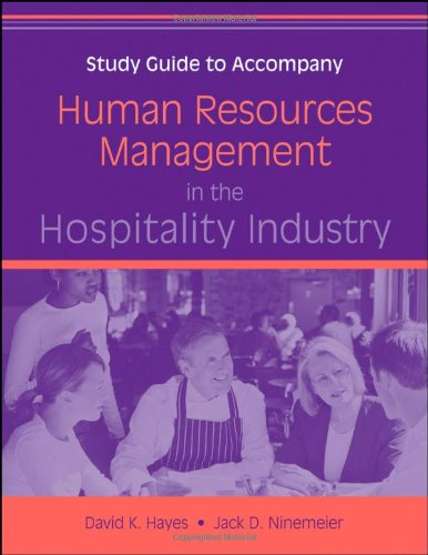 Human Resources Management in the Hospitality Industry, Study Guide