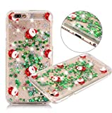 Case for Galaxy S9 Plus,Christmas Tree Santa Claus Flowing Green Stars Paillettes Quicksand Bling Glitter Christmas Case for Samsung Galaxy S9 Plus(Santafull)
