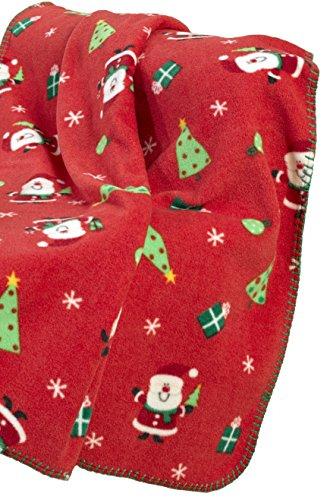 Coperta da Babbo Natale rossa in poliestere, circa 127x 152cm