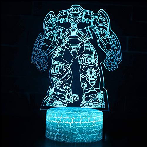 Marvel Iron Man Series 3D lámpara de mesa, luz LED creativa regalo visual estéreo colorido noche luz-J-Touch