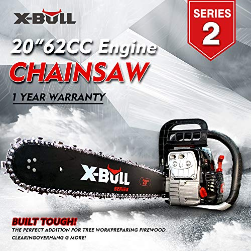 X-BULL Motosierra de Gasolina 62cc 20pulgada 20inch