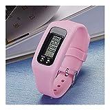 XJS Reloj Adolescente Digital LCD podómetro Ejecutar Paso Poca Distancia de Contador de calorías Deporte Reloj Pulsera para niños (Color : Pink)