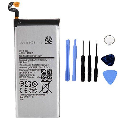 Generico Batería de alta capacidad 3000 mAh compatible con Samsung Galaxy S7 G930F con kit de herramientas incluido