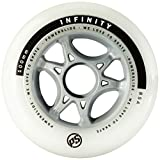 Powerslide 905228 Infinity II - Ruedas para Patines (80 mm, 4 Unidades), Color Blanco
