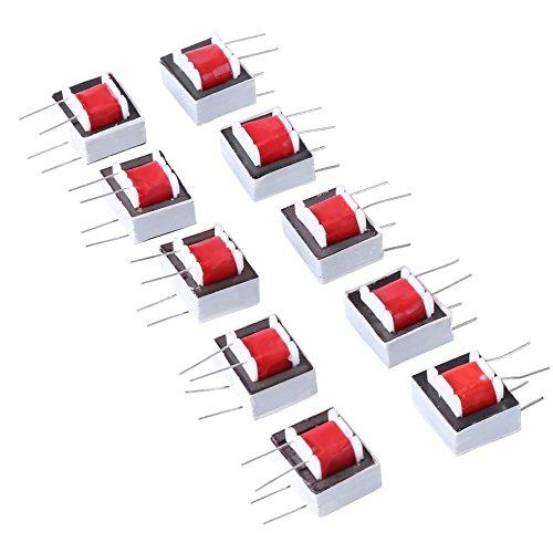 SANON Transformadores de Audio de Alta Eficiencia 10 Piezas/Paquete 600: 600 Ohm 1: 1 Ei14 Transformador de Aislamiento