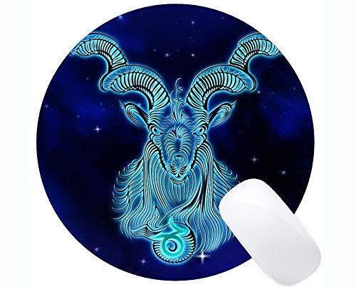Runde Mausunterlagen Besonders angefertigt, Sternzeichen-Steinbock-Entwurfs-Astrologie-Themen der Büro-runden Mausunterlage