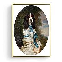 パズル1000ピース 人間の芸術の絵を模倣したレトロな古典的な犬 ジグソーパズル1000ピースの動物 グレートホリデーレジャー、家族向けインタラクティブゲーム50x75cm(20x30インチ)