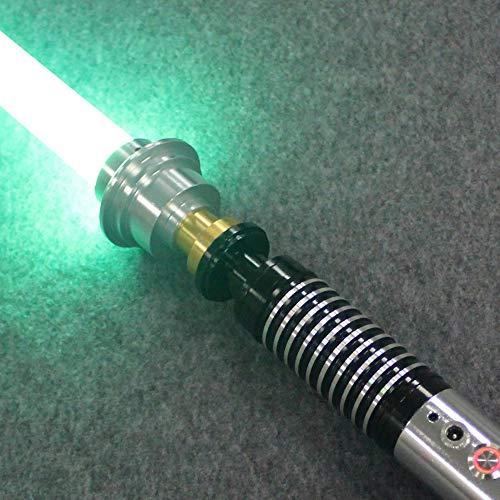 BoMan Lichtschwert Metallgriff einfarbig FOC Blaster Großhandel Lichtschwert Hochwertiges Duell-Lichtschwert für Skywalker, Geschenk für Kinder und Erwachsene,Grün