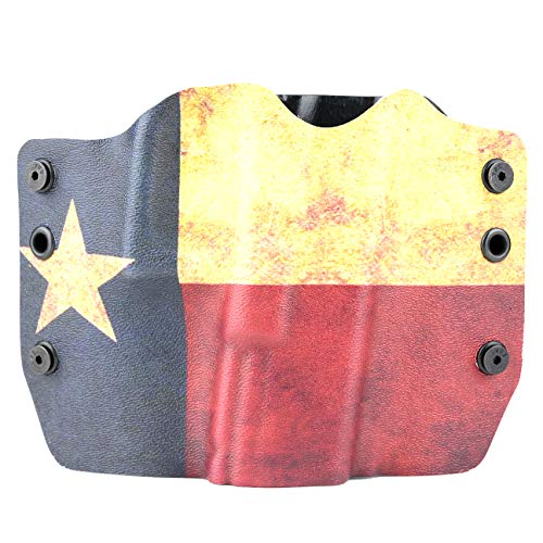 Outlaw Holsters Texas Flag OWB Holster (Right-Hand, 1911 w/o Rail)