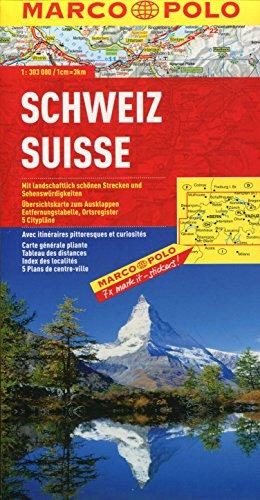 MARCO POLO Länderkarte Schweiz 1:300.000 (MARCO POLO Länderkarten)