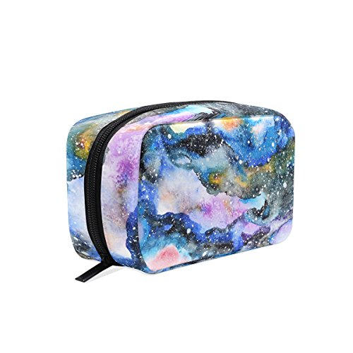 TIZORAX Aquarelle Galaxy Trousse de maquillage Sac de voyage
