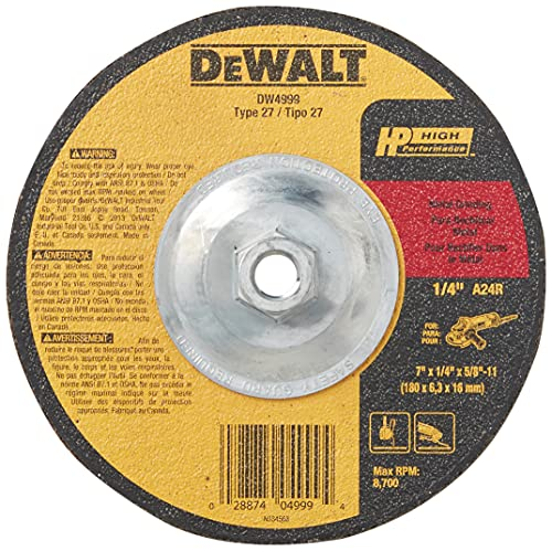 DEWALT Grinding Wheel for Metal, 7-Inch (DW4999)